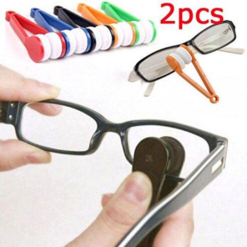 HCFKJ Brillen Sonnenbrillen Brillen Brillen Reiniger ReinigungsbüRste Scheibenwischer Kit