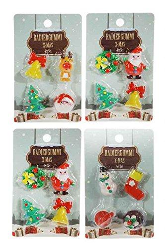 Pack 4x 4Gomme X-Mas–Lutin, calendrier de l'avent Garnissage, cadeau de Noël Cadeau