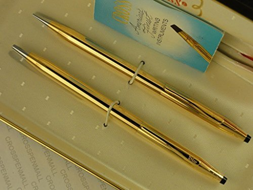 cross-century-classic-made-in-the-usa-14k-gold-filled-rolled-gold-ball-pen-and-pencil-this-is-qualit