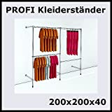 200x200x40 PROFI KLEIDERSTÄNDER VERSTELLBAR GARDEROBENSYSTEM-P200R