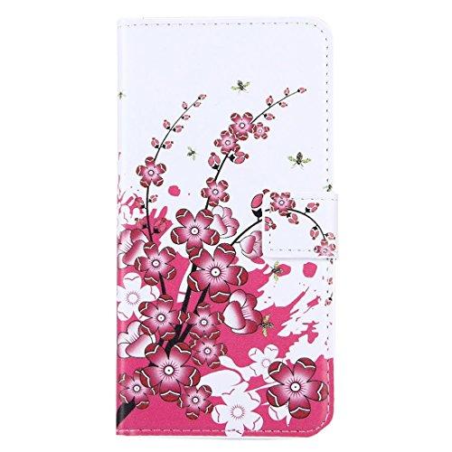 Hülle für iPhone 7 plus , Schutzhülle Für iPhone 7 Plus Kristall Schmetterlinge und Herzen Muster Leder Tasche mit Halter & Card Slots & Wallet ,hülle für iPhone 7 plus , case for iphone 7 plus ( SKU  IP7P0008D