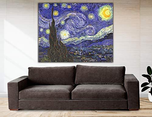 Cuadro Lienzo La Noche Estrellada Vicent Van Gogh