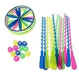 Senoow Paket von 12 Twisty Flying Saucers Hubschrauber Kinder Spielzeug Geschenke