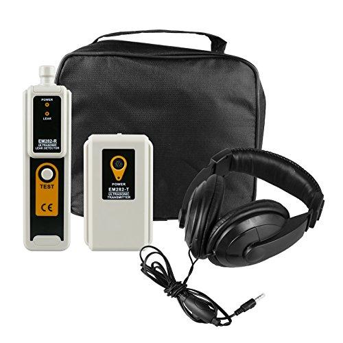 MRCARTOOL Polvo de gas del aire del agua del detector de fugas ultrasónico con el kit del accesorio del auricular LED Detector de fugas de los detectores de la salida del indicador