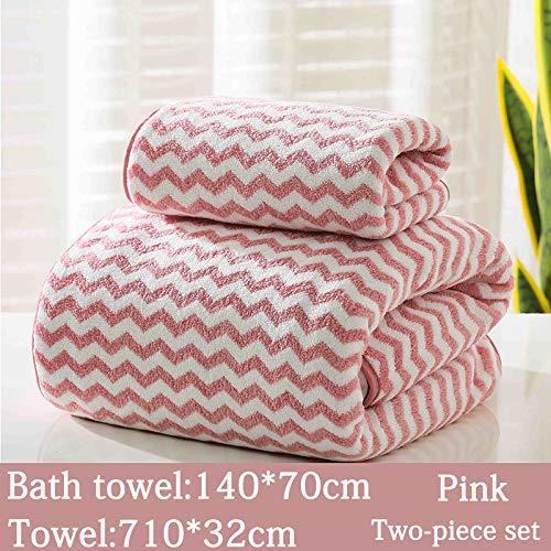 SNOLEK Adult saugfähiges Handtuch kationisch rosa zweiteilig -