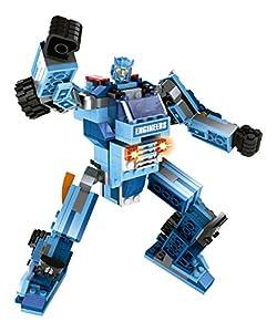 ColorBaby - Juego de bloques, construcción robot 2 en 1 tekken, 201 piezas (42822)