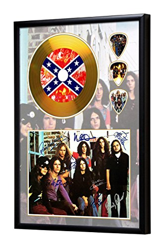 Lynyrd Skynyrd Gerahmte CD Gold Disc Display & Plektren (A4) (Gerahmt Gold)