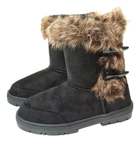 8268925ea3cbd Ella Ladies Womans Festival Winter Snow Comfy Flat Ankle Knee Calf High Fur  Lined Hard Sole Boots Sizes 3 4 5 6 7 8 UK - Buy Online in Oman.