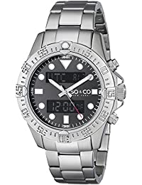 SO & CO New York 5017.1 - Reloj de cuarzo para hombres, plateado