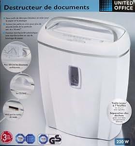 DESTRUCTEUR DE DOCUMENT PROFESSIONNEL ROBUSTE GEANT 21 Litres • PAPIER CD / DVD / CARTE DE CREDIT • BROYEUR • DECHIQUETEUR