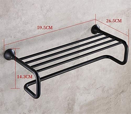 96e86afc8 KYKDY Portasciugamani Pieghevole in Rame Pieno Bagno in Bronzo Nero  Accessori da Bagno semplici in Stile