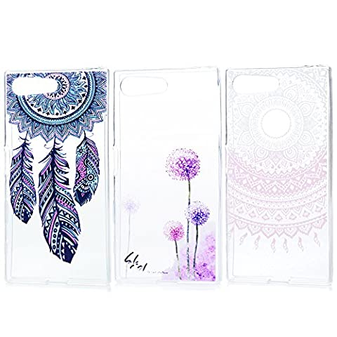 3 x Sony Xperia X Compact TPU Tasche KASOS Sony Xperia X Compact Hülle Schutzhülle Handyhülle Schale Protective Cover Silicone Taschen Paket 3