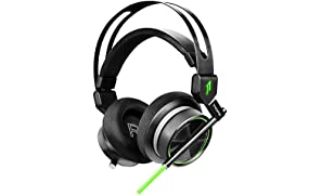 1MORE VR Gaming Headset Over-Ear mit Kabel (7.1-Surround-Sound, 50 mm-Treiber, Dual Mikrofon) für PC, Xbox, PS4, Mobilgeräte – (H1005, SPEARHEAD)