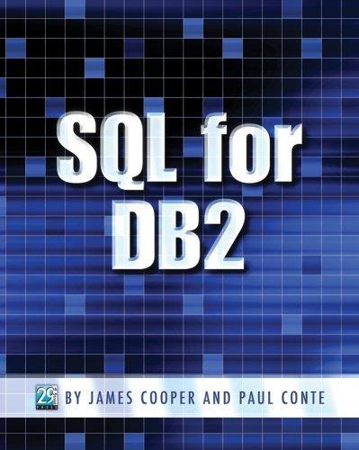 SQL for DB2 by James Cooper & Paul Conte (2009-01-16) par James Cooper & Paul Conte