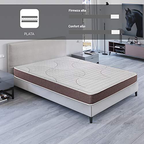 ROYAL SLEEP Colchón viscoelástico 90x190 de máxima Calidad, Confort, adaptabilidad y firmeza Alta, Altura 19cm - Colchones Dormant