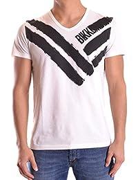 Dirk Bikkembergs Hombre C745SFJMB074A00 Blanco Algodon T-Shirt