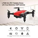 LF606 Mini Drohne Mit 2 Batterie 720 P HD Kamera FPV RC Quadcopter Faltbare Höhe Halten Headless Modus Kinder Kid Spielzeug rot