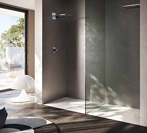 Piatto doccia 80x120 1°scelta rettangolare in resina termoformata effetto pietra con piletta