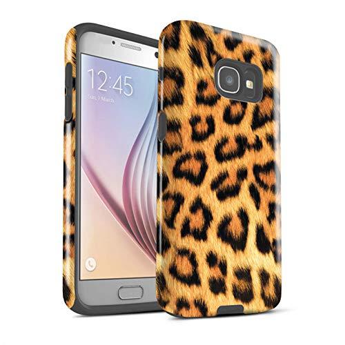 Stuff4® Glanz Harten Stoßfest Hülle/Case für Samsung Galaxy A5 (2017) / Gelb Muster/Leopard Tier Haut/Print Kollektion - Gelb Leopard