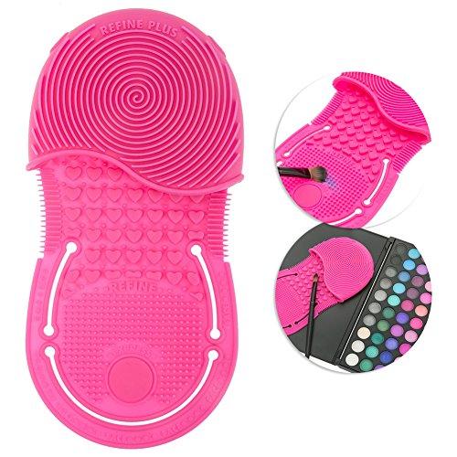 Silikon Gel Make Up Pinsel Reiniger mit Finger Mini Handschuhe Gasabscheider Make-up Applikatoren Reinigungspads Utensilien und waschen Boards Schrubben Werkzeug -