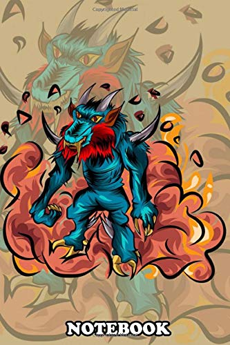 Notebook: Dragonwolf Demon Monster Inspired By My Imagination Ske , Journal for Writing, College Ruled Size 6