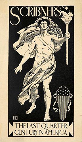 Scribner's Vintage Poster (Künstler: Cox) USA c. 1896, Papier, multi, 24 x 36 Giclee Print - 1896 Vintage-print