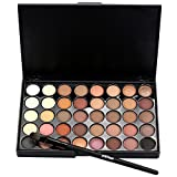 40 Color Eye Shadow Palette , Kxnet osmetic Matte Eyeshadow Cream Makeup Palette Set 40 Color+ Brush Set (A)