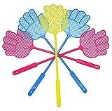 Milopon Plastik Fliegenklatsche Fliegenschutz Mückenschutz mit Hand Design für Fliegen, Mücken und Insekten zufällige farbe 2pcs