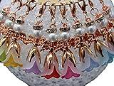 10 + 1 Engel DIY Bastelsets Schutzengel Anhänger rose gold Blüten Engel Glücksbringer Hochzeit Mitgebsel Kommunion Taufe Geburtstag Kinder Freunde
