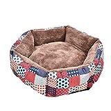 Yunt Schlafplatz Hundebsofa mit abnehmbare Kissen weiche warme Matten Betten, Maschine waschbar, Anti-Rutsch-Bode, für kleine mittelgroße Hunde Welpen Katzen XS/S/M