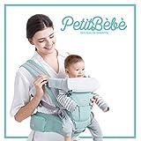 Marsupio Neonati PetitBèbè | Porta Bambino Ergonomico 4 in 1 | Multiposizione Variabile, Regolabile, Traspirante - Per Bambini 0 36 Mesi (3,5-20kg)