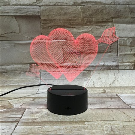 WoloShop Lampara LED Corazones Cupido San Valentin