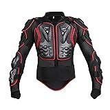 PLOT Motorrad Rüstung Jacke Motocross Mountain Fahrrad Protektoren Jacke Body Protector Schutzkleidung Schutzjacke (XL, Rot-1)