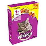 WHISKAS 1+ Cat Complete Dry with Chicken 825g