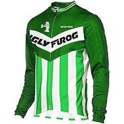 Uglyfrog #39 Ciclismo Hombres Manga larga Winter with Fleece Maillots de Bicicleta de Ropa de Ciclo Jersey de manga corta