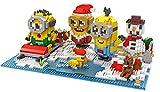 Mini Bausteine Sets 3D-Puzzle Weihnachten Puzzlespiel Kreatives DIY Bausteine Versammlung Intelligenz Spielzeug für Kinder Weihnachtsgeschenke oder Geburtstagsgeschenke von LOZ (Weihnachten Minions Form)