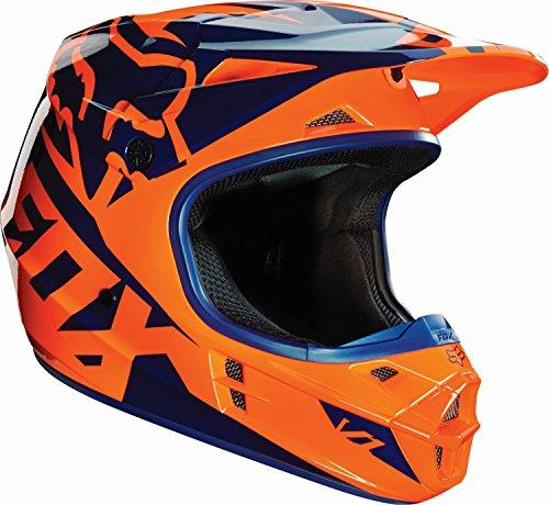 FOX V1 Race MX-Helm 2016, Farbe orange-blau, Größe XXL(63-65)