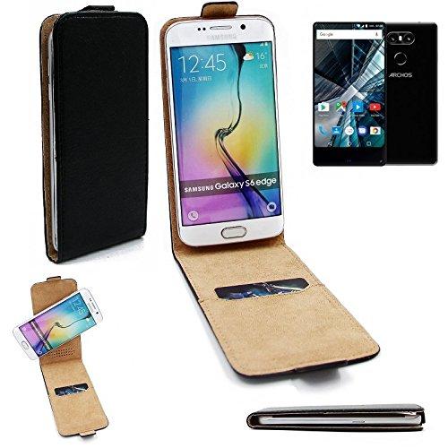 K-S-Trade Für Archos Sense 55 S Flipstyle Schutz Hülle 360° Smartphone Tasche, schwarz, Case Flip Cover für Archos Sense 55 S