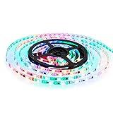 Albrillo 12V RGB LED Strip 150 LEDs 5M SMD 5050 inkl. Fernbedienung & Netzteil als Deko für Weihnachten, Party