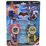 Batman VS SUPERMAN Film Serie batteriebetrieben Walkie Talkie Boy Comic Play Set Hohe Reichweite für Outdoor/Indoor-Umgebung einfach-Design, ideal Spielzeug für und Junge Kind Kinder