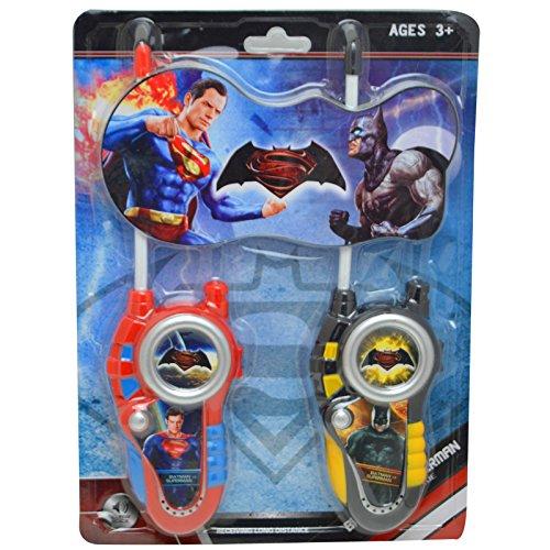 Batman VS SUPERMAN Film Serie batteriebetrieben Walkie Talkie Boy Comic Play Set Hohe Reichweite für Outdoor/Indoor-Umgebung einfach-Design, ideal Spielzeug für und Junge Kind (Hoodie Adult Superman Mens)