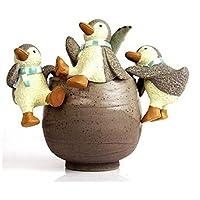 xiangshang shangmao Resin Animals Pets Garden Decoration Ornaments Home Decors Figures penguin