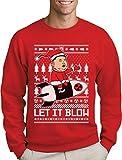 Green Turtle T-Shirts Nordkoreanische Weihnachten Männer Weihnachtspullover - Let It Blow Sweatshirt Medium Rot