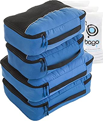 Packing Cubes 4pcs Value Set for Travel - Plus 6pcs Luggage Organiser Zip Bags - low-cost UK light store.