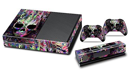 Xbox One Designfolie Sticker Skin - Vinyl Aufkleber Schutzfolie für Xbox One Konsole mit 2 Aufkleber für Xbox One Controller -Farben
