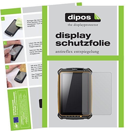 dipos I 2X Schutzfolie matt passend für RugGear RG910 Folie Bildschirmschutzfolie