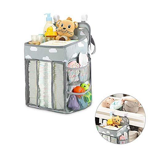 AVUSTAR Pannolino OrganizzatoreMultifunzione Baby Nursery OrganizerOrganizer da Appendere Pannolini per Lettino Bimbo e CullaFasciatoioBorsa