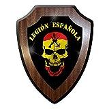 Wappenschild / Wandschild -Legión Española Spanische Legion Skull Totenkopf Fremdenlegion Spanien Totenschädel Flagge Abzeichen #9823
