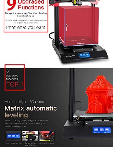 Luxnwatts Creality CR-10S Pro 3D Printer Auto Leveling Sensor And LCD Double Extrusion With Resume Printing Filament Detection Function 300x300x400mm - 4