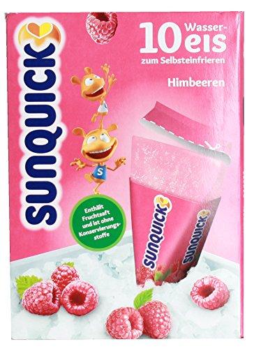 sunquick - Wassereis zum Selbsteinfrieren Himbeere - 10St/650g